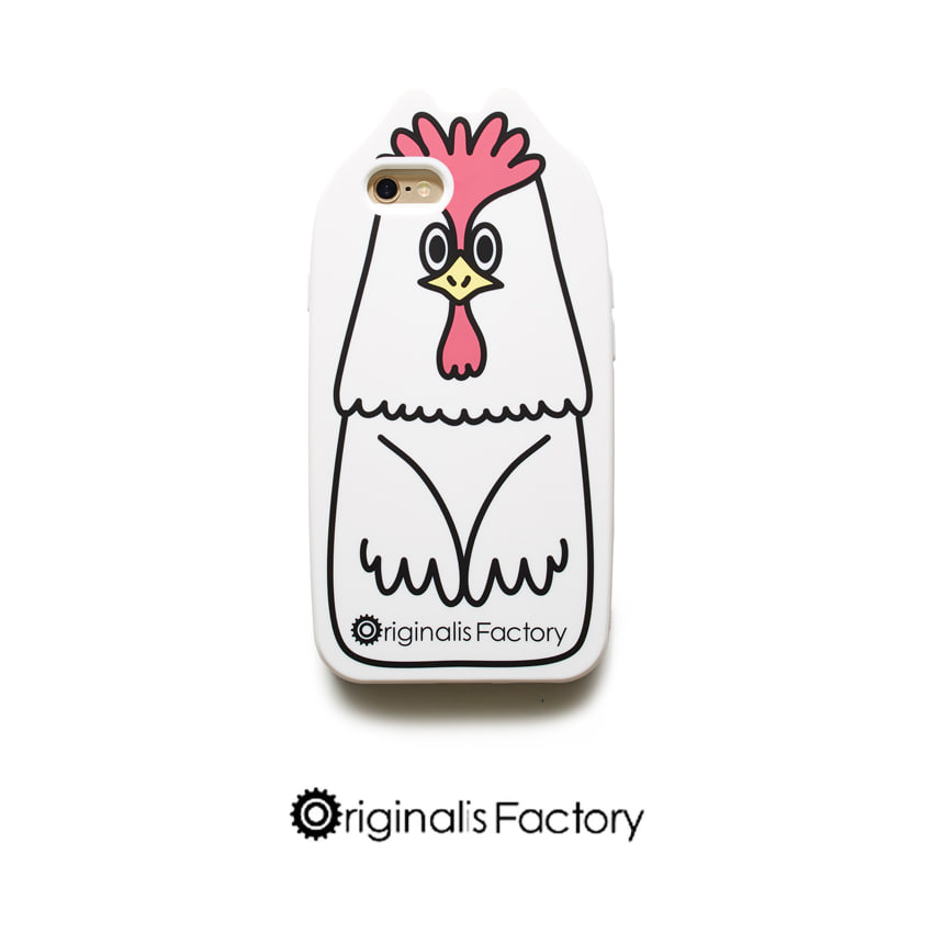[O.FACTORY] white rooster caseIPHONE 6S/6