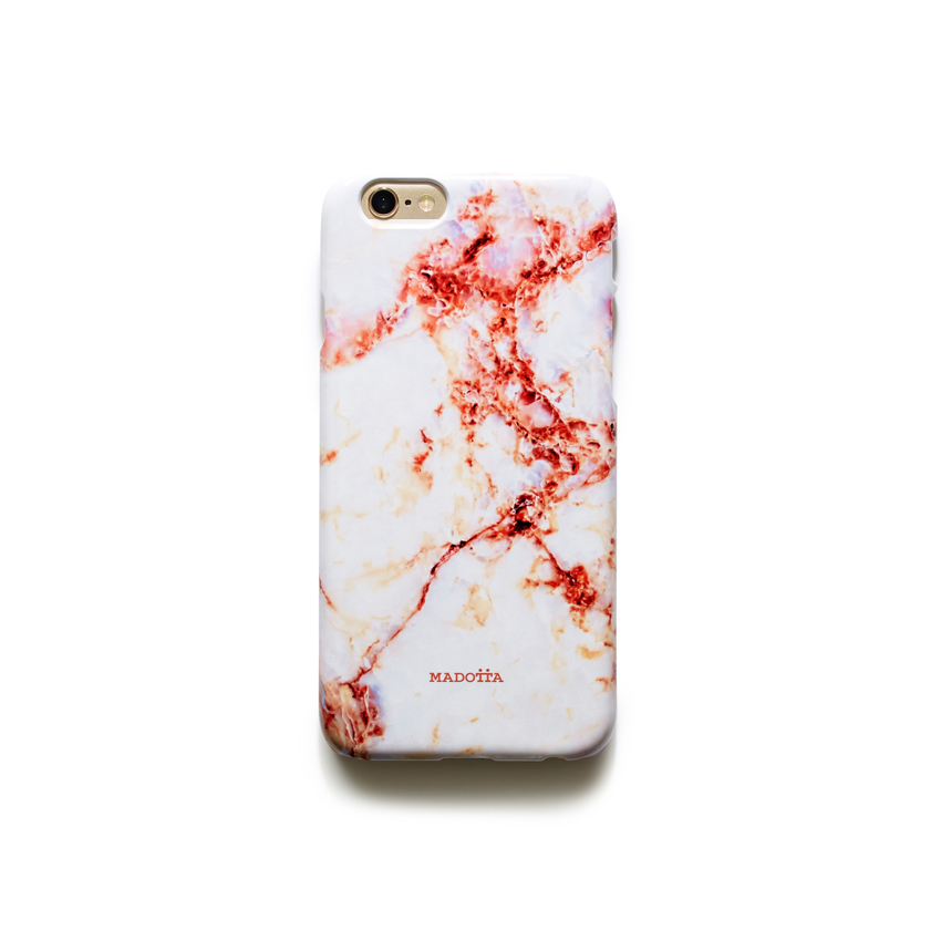 [MADOTTA] red vein marble caseIPHONE 6S+/6+