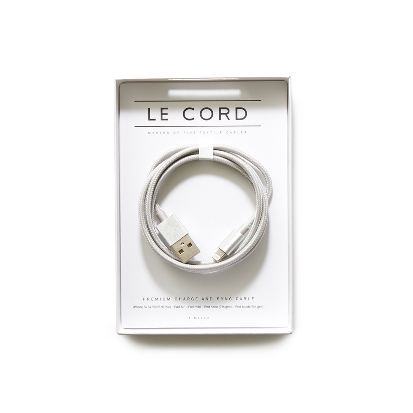 [LE CORD] USB charge solid silver cable