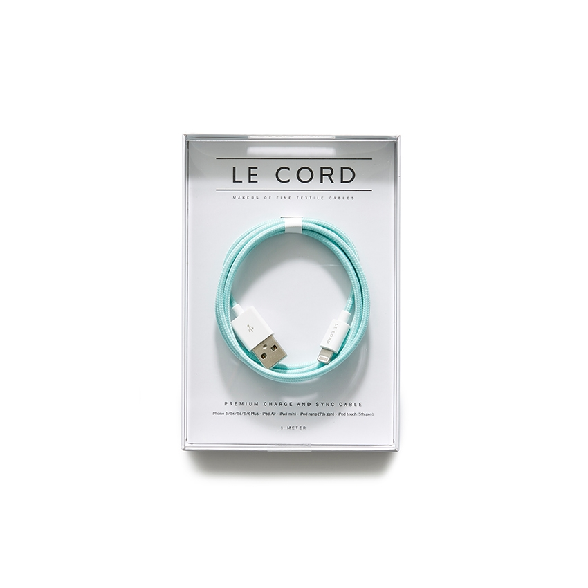 [LE CORD] USB charge solid mint cable