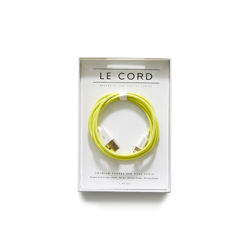 [LE CORD] USB charge solid yellow cable