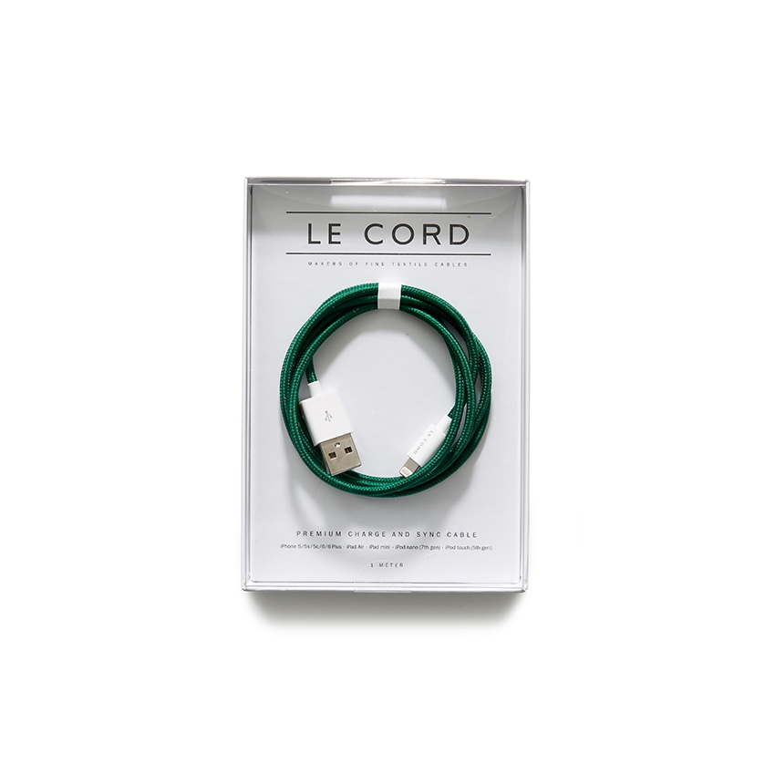 [LE CORD] USB charge solid spruce cable