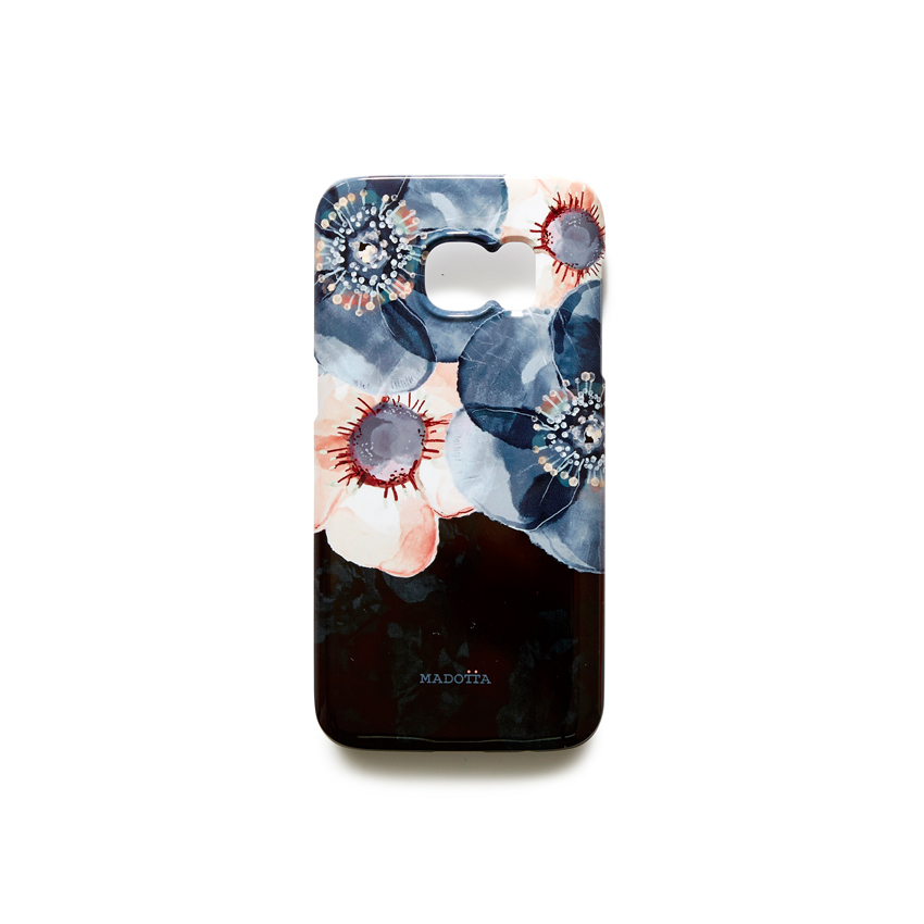 [MADOTTA] floral pattern on black case  GALAXY S7