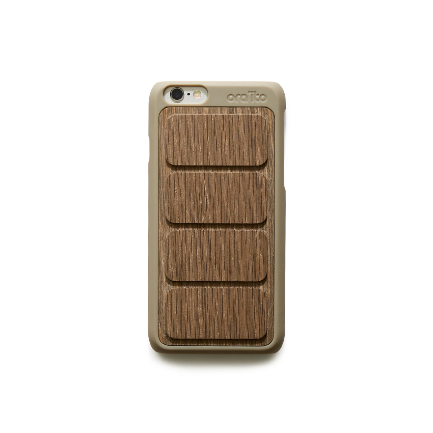 [ORAITO] wood padding back case - BROWN IPHONE 6S/6